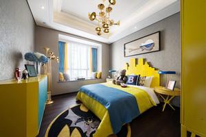 明亮黄色简欧风格儿童房卧室装修效果图