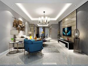 简欧风格精美低调典雅客厅装修效果图