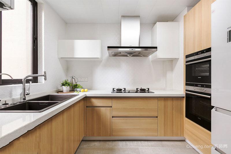 简约风格时尚浅色厨房设计装修效果图