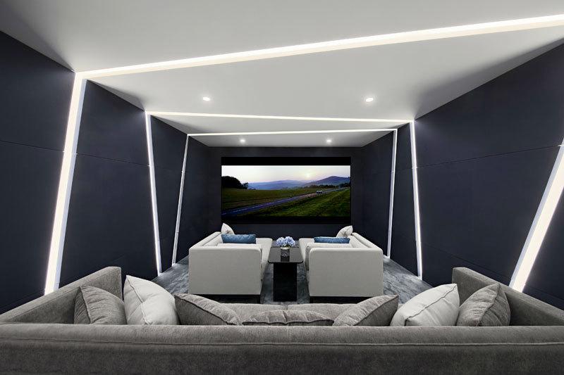 现代风格时尚精致家庭影院设计装修图