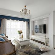 欧式典雅精美客厅设计装修效果图