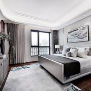 素雅新中式风格卧室设计装修效果图