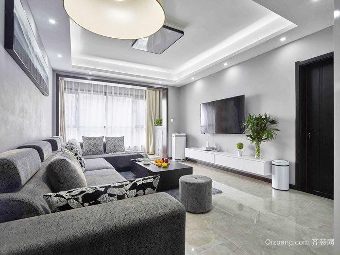 现代简约风格简单时尚客厅设计装修效果图