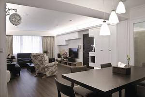 现代美式风格精致90平米小三房装修效果图