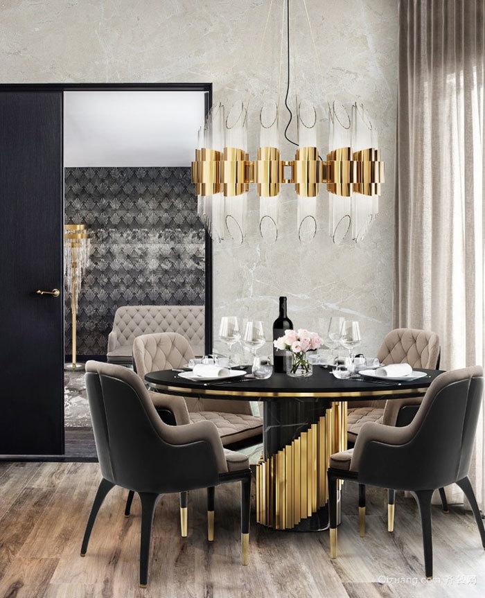 低调奢华新古典主义风格餐厅装修效果图