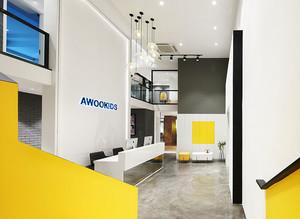 现代简约风格200平米办公室装修效果图