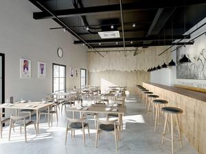 简约风格70平米餐厅装修效果图