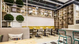 54平米简约风格咖啡厅设计装修效果图