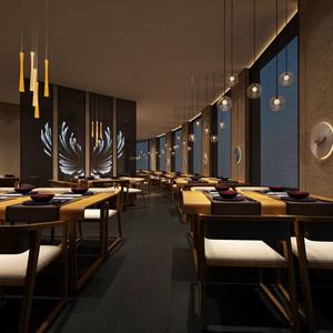 现代风格70平米精致餐厅设计装修图