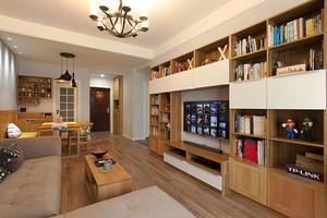 北欧风格原木色60平米室内设计装修效果图