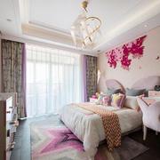欧式风格粉色精美儿童房卧室装修效果图