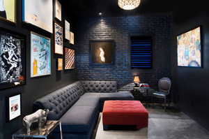 混搭个性时尚家庭影院设计装修效果图