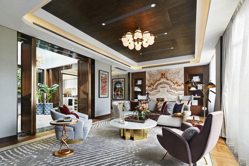新古典主义风格时尚客厅设计装修图