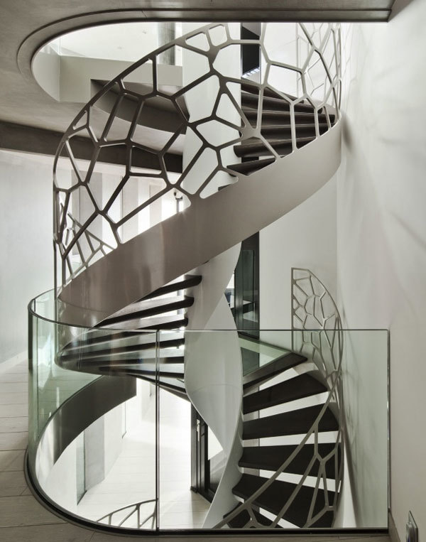 现代风格个性时尚旋转楼梯设计装修效果图