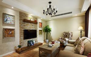 现代美式风格温馨90平米室内设计装修效果图