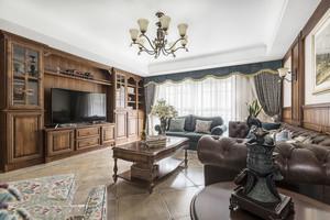 复古美式风格淳朴客厅装修效果图赏析