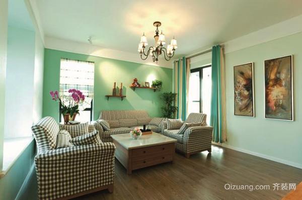 田园风格清新舒适两室两厅一卫装修效果图
