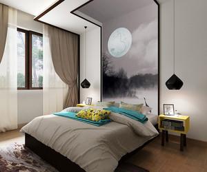清雅新中式风格精致别墅室内装修效果图