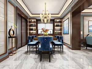 精美素雅新中式风格餐厅设计装修效果图