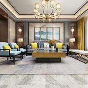 清秀雅致新中式风格客厅装修实景图