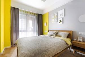 20平米简单舒适宜家风格卧室装修效果图