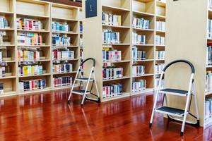 简约风格图书馆书架设计装修效果图