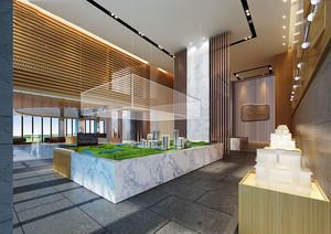 现代简约风格售楼处设计装修效果图