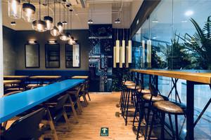 现代简约风格70平米餐厅设计装修效果图