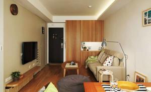 39平米简约风格温馨单身公寓设计装修效果图