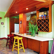 美式田园风格精美室内吧台设计装修效果图