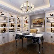 欧式风格白色精美书房设计装修效果图