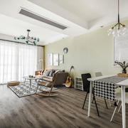 简单清新风格客厅设计装修实景图