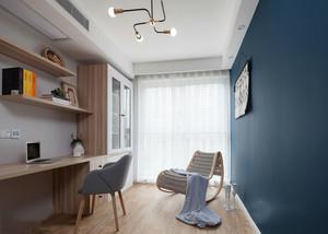 10平米清新现代风格书房设计装修效果图