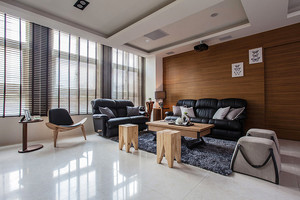 禅意素净现代风格80平米室内设计装修效果图