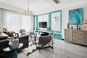 时尚清新新古典主义风格客厅装修实景图
