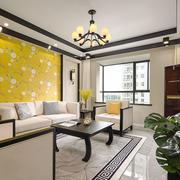 新中式风格优雅时尚客厅设计装修效果图