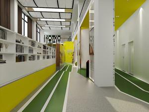 现代简约风格办公室走廊装修效果图