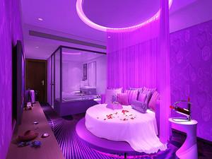 欧式风格酒店客房装修效果图片