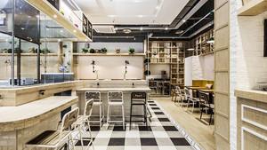 45平米简约风格快餐店设计装修效果图