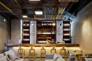 现代风格时尚酒吧吧台设计装修效果图