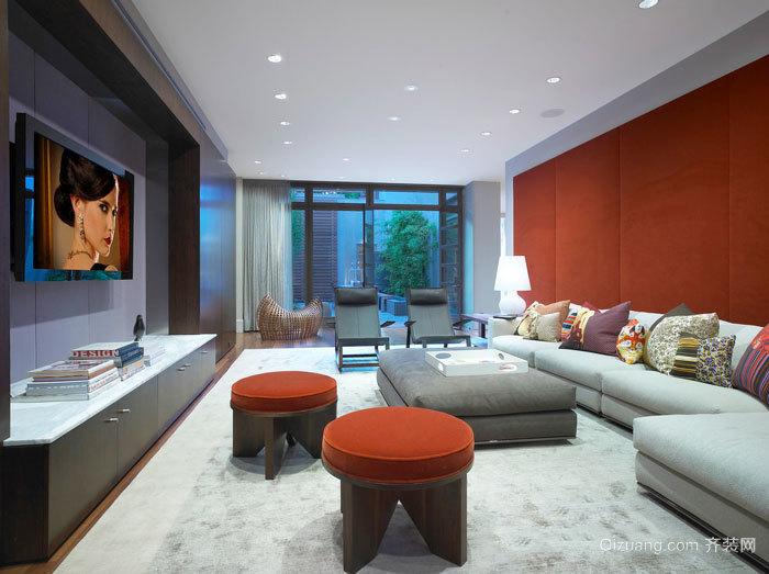 东南亚风格简约客厅设计装修效果图