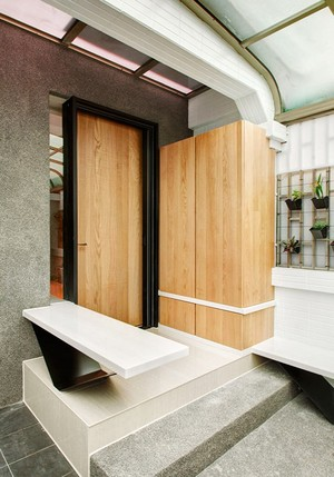简约风格109平米复式楼室内装修效果图