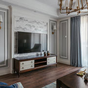 精美欧式风格客厅电视背景墙设计装修效果图