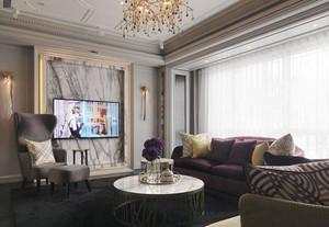 典雅精美欧式风格客厅电视背景墙装修图