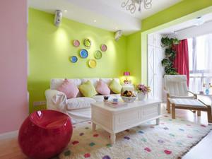 田园小清新风一居室室内设计装修效果图