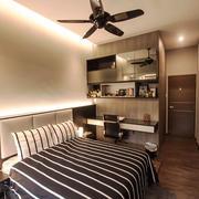 20平米现代风格黑色系卧室装修效果图