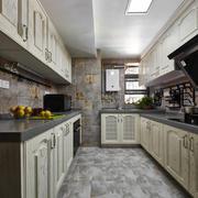 田园风格U型厨房设计装修效果图赏析