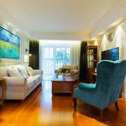 复古温馨美式风格客厅设计装修图
