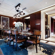 奢华典雅新古典主义风格餐厅设计装修效果图
