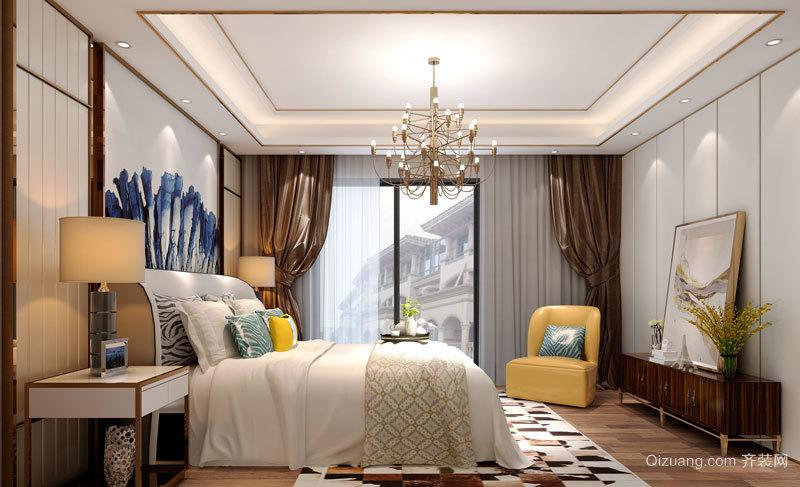 时尚精美新中式风格卧室设计装修图